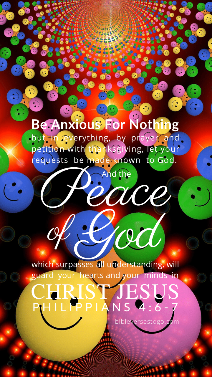Christian Wallpaper – Smiley Philippians 4:6-7