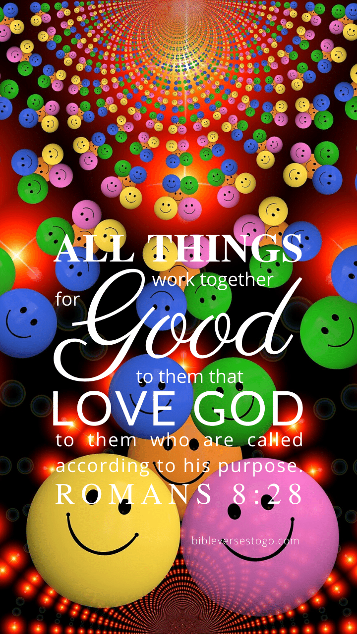 Christian Wallpaper – Smiley Romans 8:28