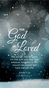 Christian Wallpaper - Snowfall John 3:16