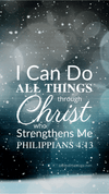 Christian Wallpaper - Snowfall Philippians 4:13