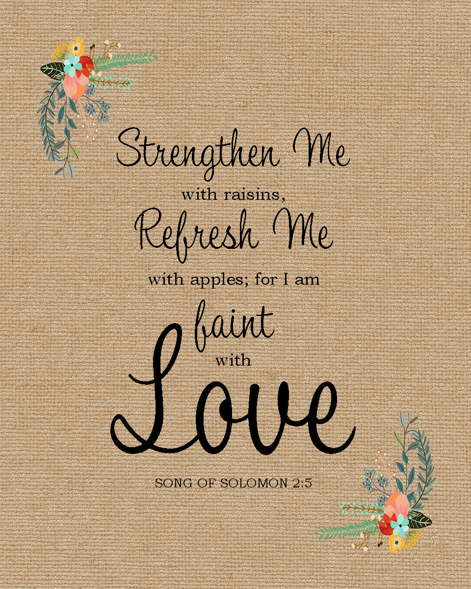 Song of Solomon 2:5 I am Faint with Love - Free Bible