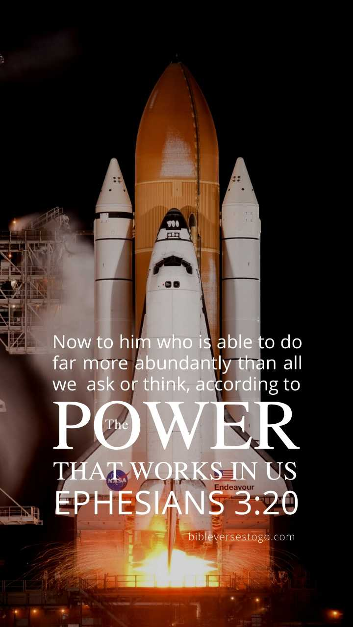 Christian Wallpaper - Space Shuttle Ephesians 3:20