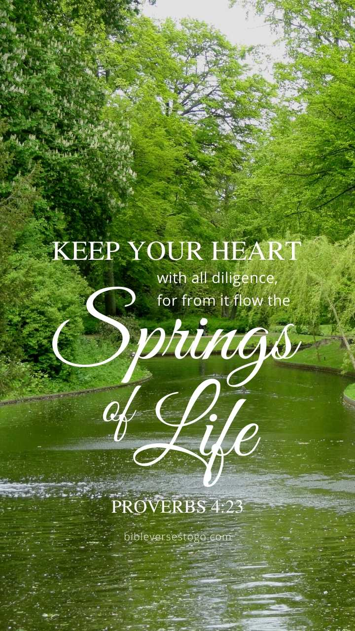 Christian Wallpaper - Stream Proverbs 4:23
