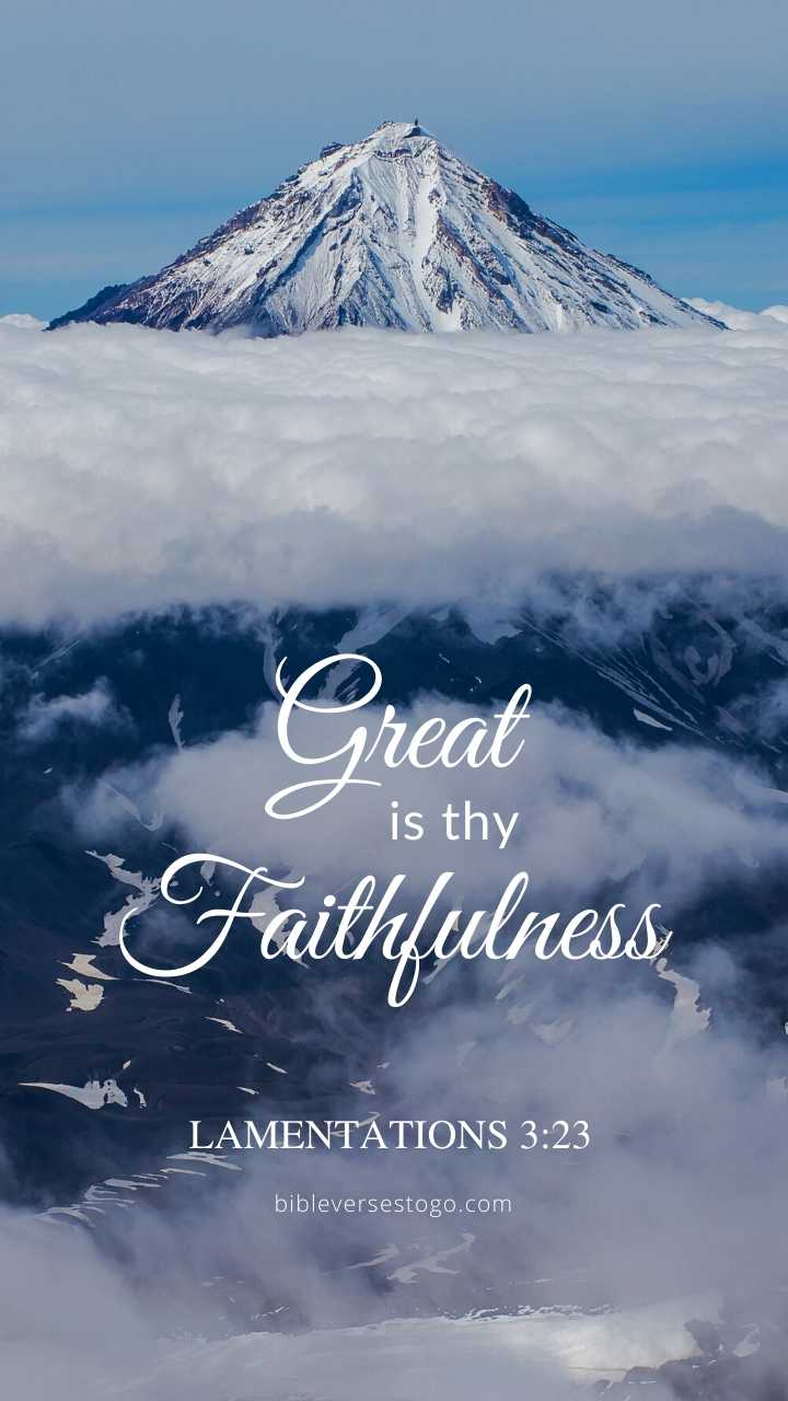 Christian Wallpaper - Summit Lamentations 3:23