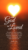 Christian Wallpaper – Sun Heart John 3:16