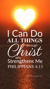 Christian Wallpaper – Sun Heart Philippians 4:13