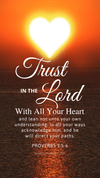 Christian Wallpaper – Sun Heart Proverbs 3:5-6