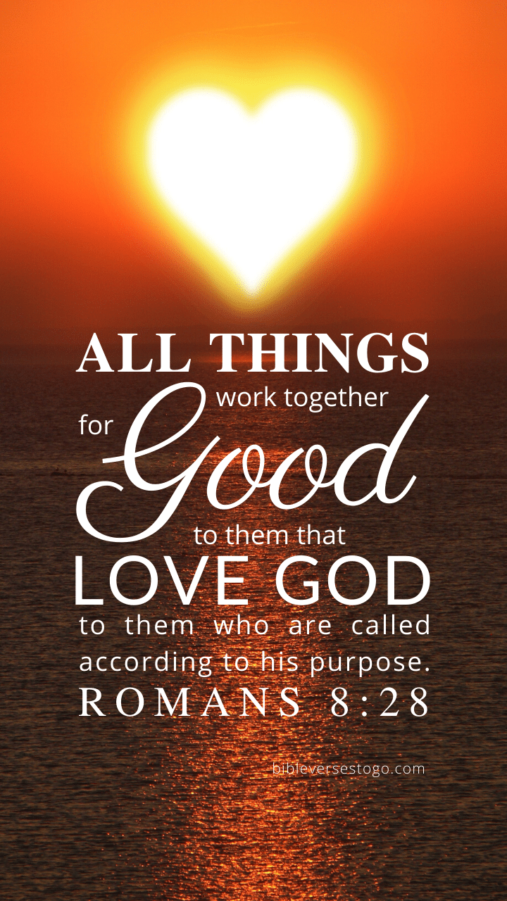 Christian Wallpaper – Sun Heart Romans 8:28