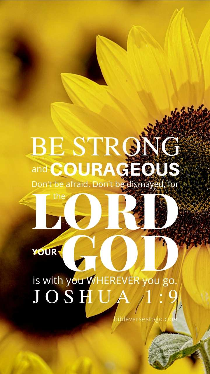 Christian Wallpaper – Sunflower Joshua 1:9