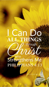 Christian Wallpaper - Sunflower Philippians 4:13