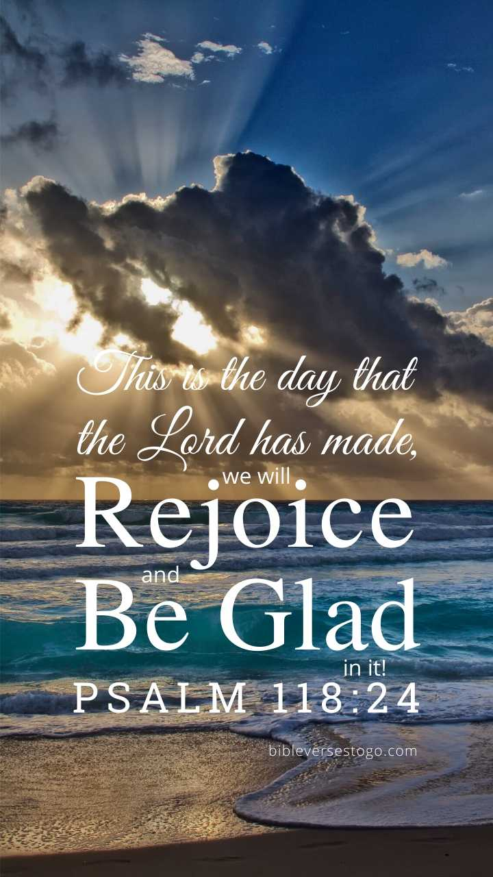 Christian Wallpaper - Sunray Beach Psalm 118:24