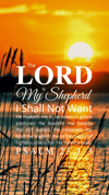 Christian Wallpaper – Sunrise Psalm 23:1-3