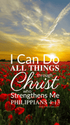 Christian Wallpaper – Sunset Philippians 4:13