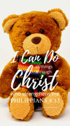 Christian Wallpaper – Teddy Philippians 4:13