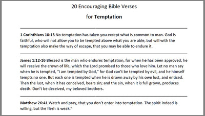 Bible Verses for Temptation