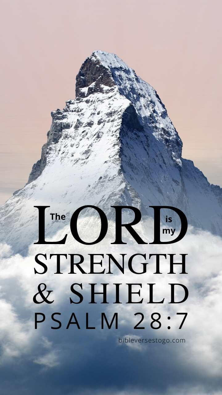 Christian Wallpaper - The Rock Psalm 28:7