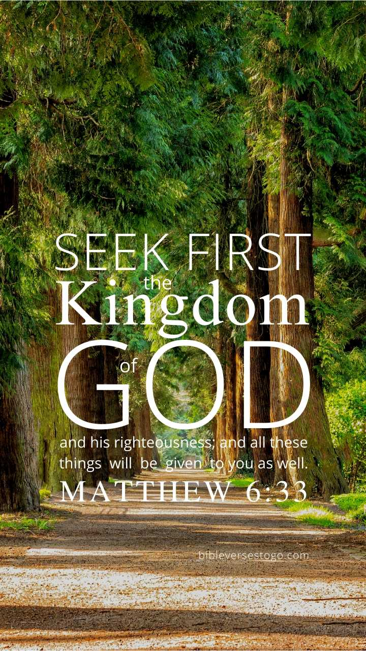 Christian Wallpaper – Treeline Matthew 6:33