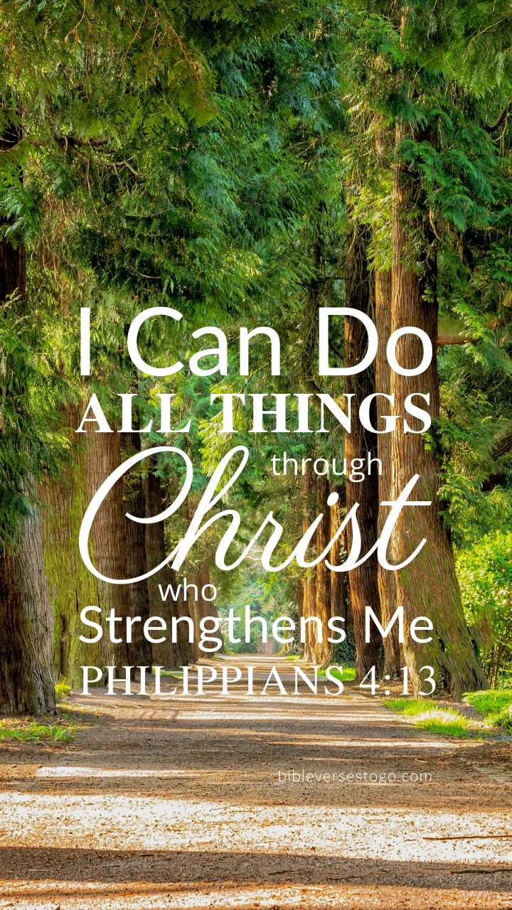 Christian Wallpaper – Treeline Philippians 4:13