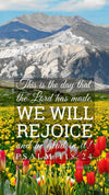 Christian Wallpaper – Tulip Field Psalm 118:24