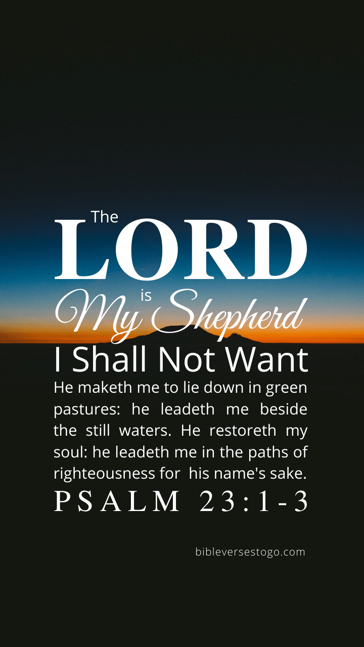 Christian Wallpaper – Twilight Psalm 23:1-3