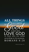 Christian Wallpaper - Twilight Romans 8:28