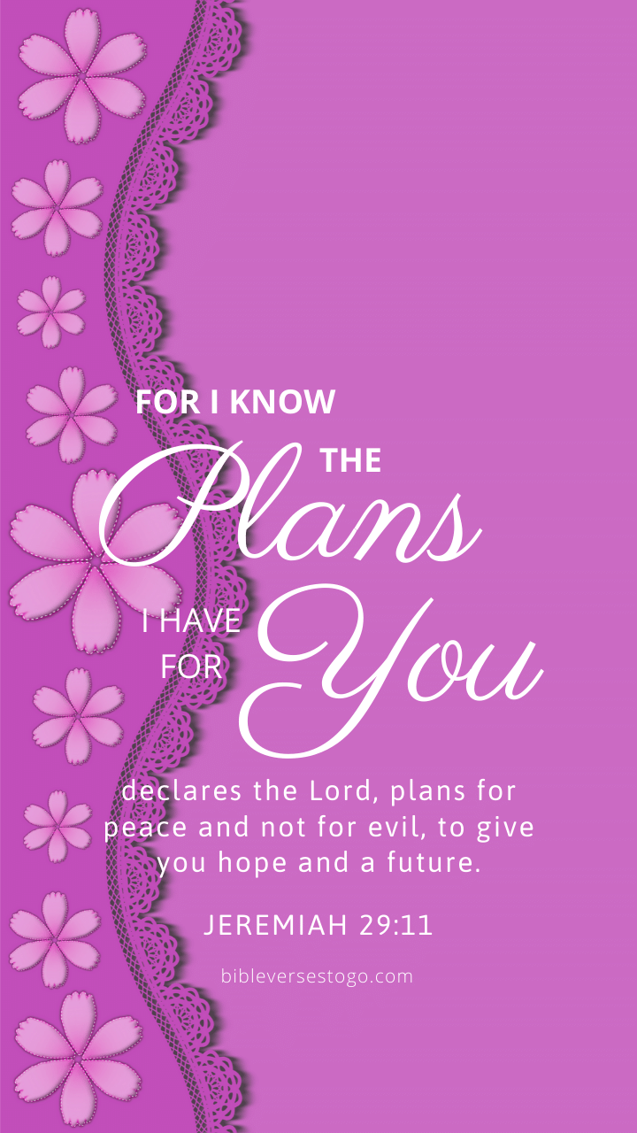 Christian Wallpaper – Violet Jeremiah 29:11