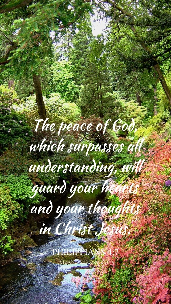 Christian Wallpaper - Wales Gardens Philippians 4:7