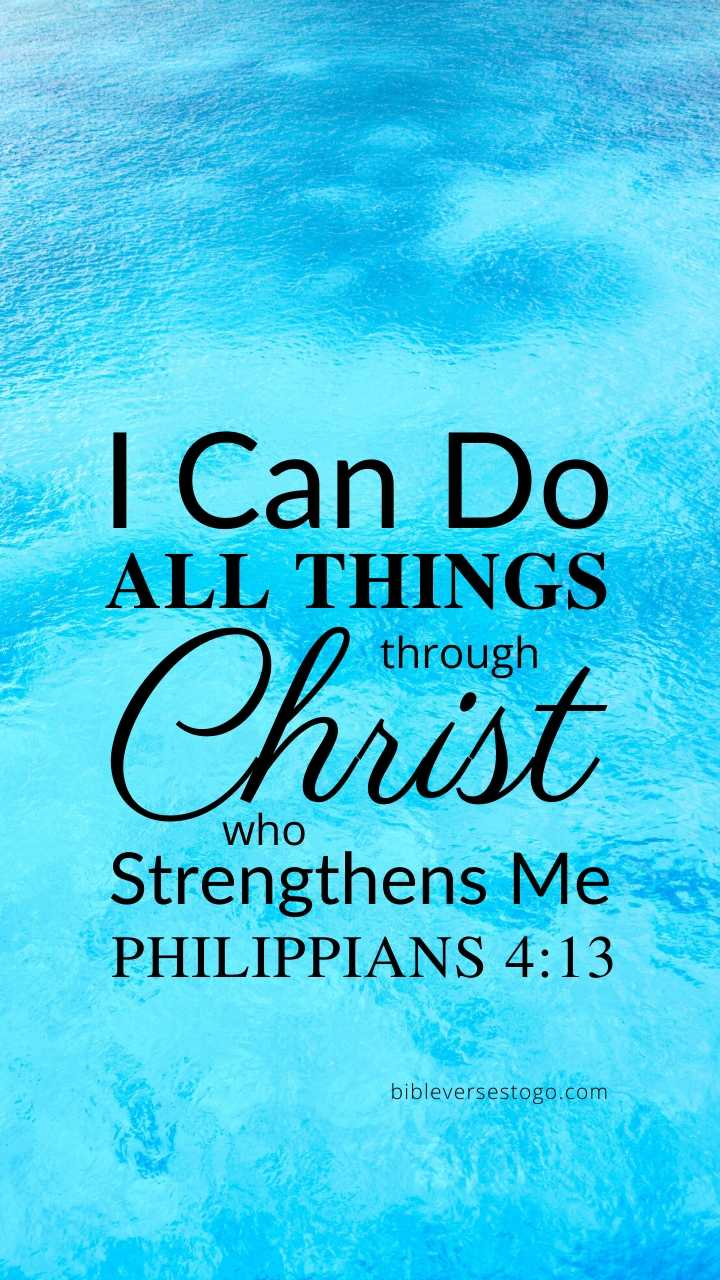 Christian Wallpaper – Water Philippians 4:13