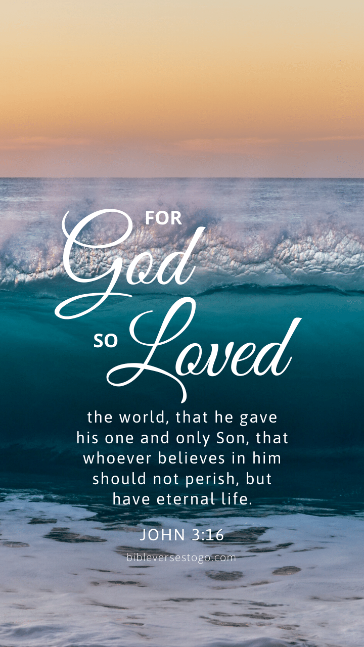 Christian Wallpaper - Waves John 3:16