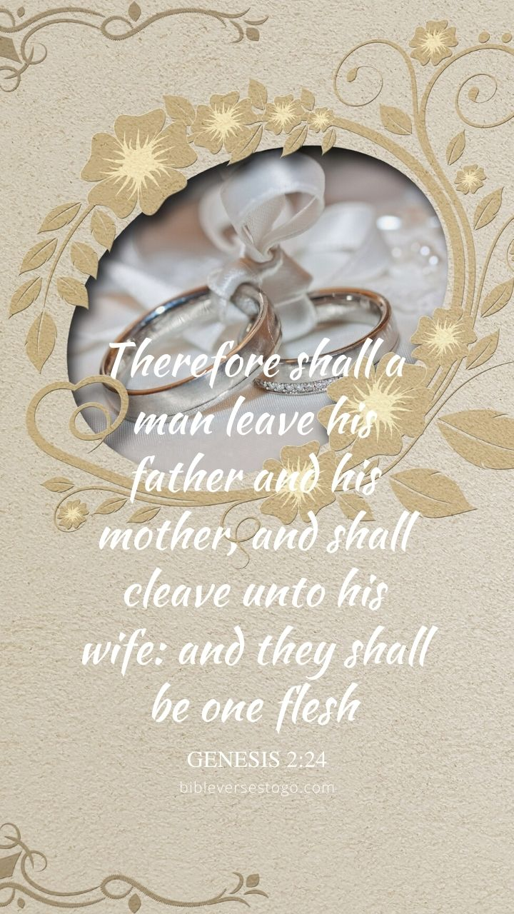 Christian Wallpaper - Wedding Rings Genesis 2:24