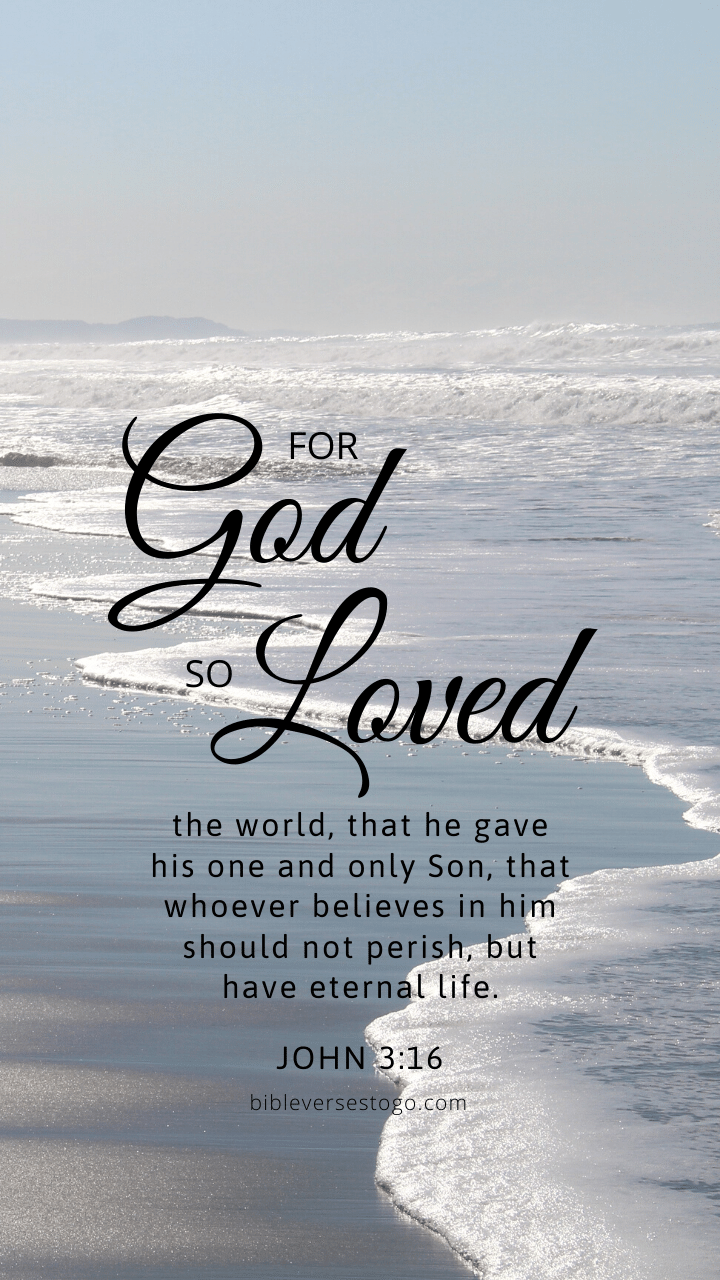 Christian Wallpaper – White Ocean John 3:16