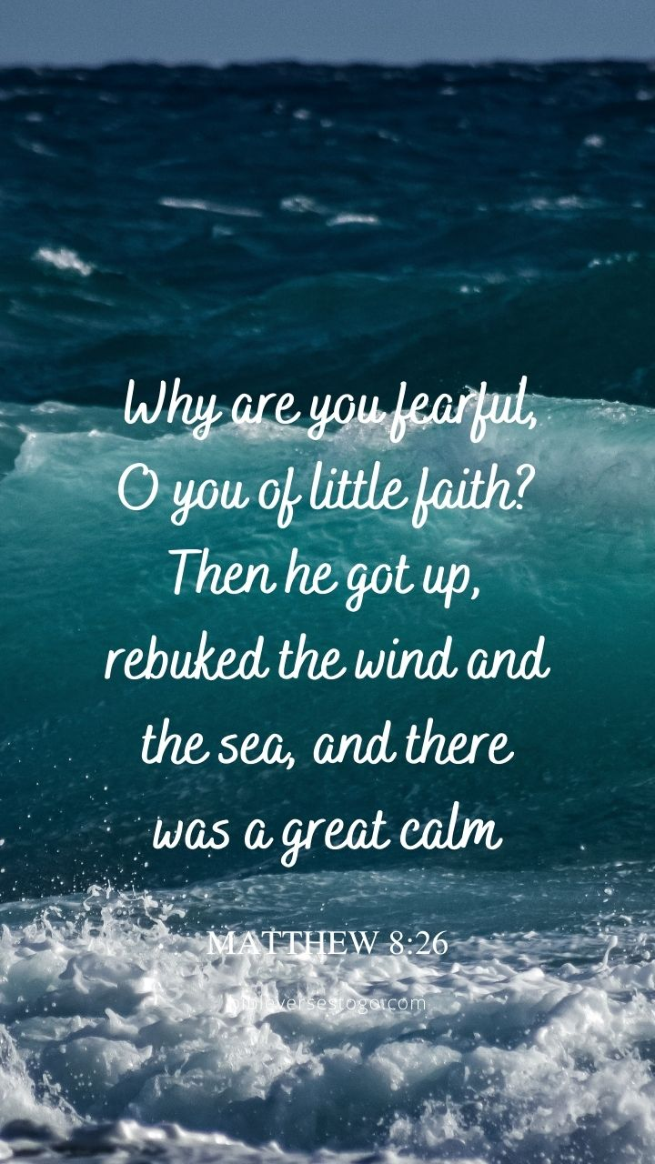 Christian Wallpaper - Wind n Waves Matthew 8:26