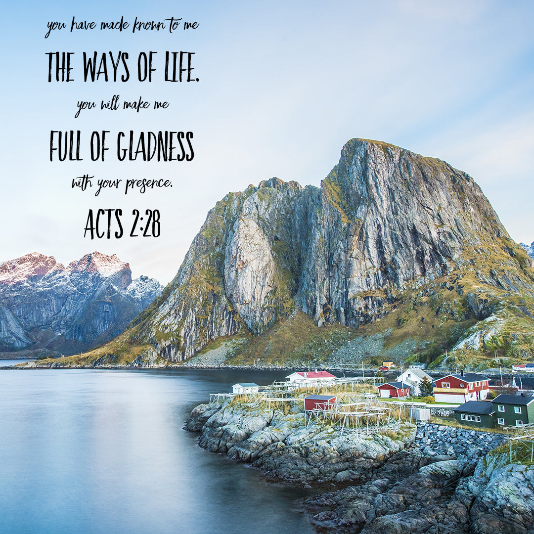 Acts 2:28 - Full of Gladness - Bible Verses To Go