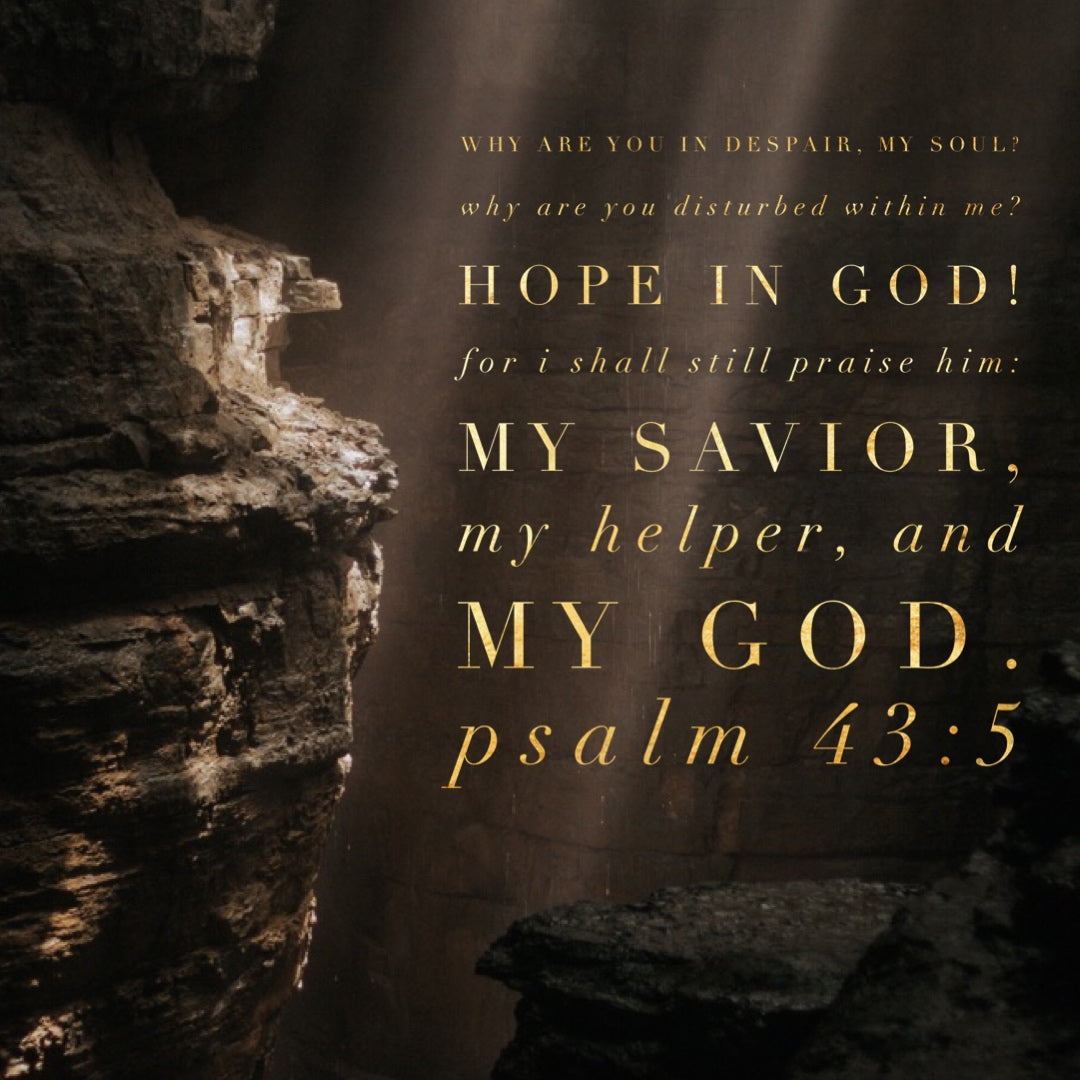 Psalm 43:5 - Hope in God My Helper - Bible Verses To Go