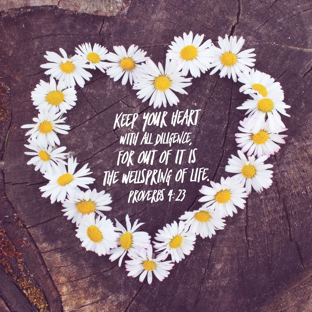 Proverbs 4:23 - Keep Your Heart - Bible Verses To Go
