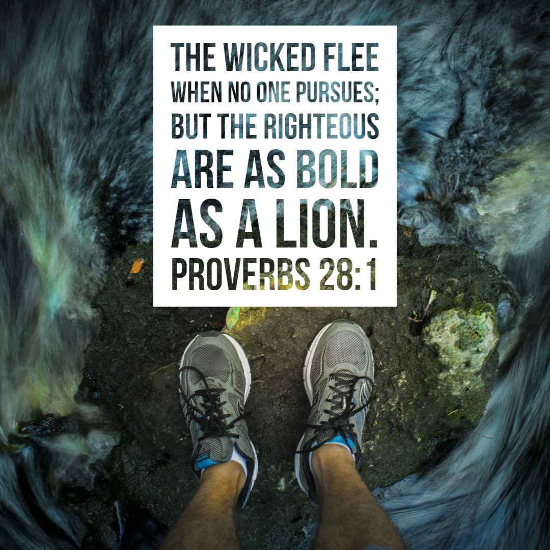 Proverbs 28:1 - Bold as a Lion - Bible Verses To Go