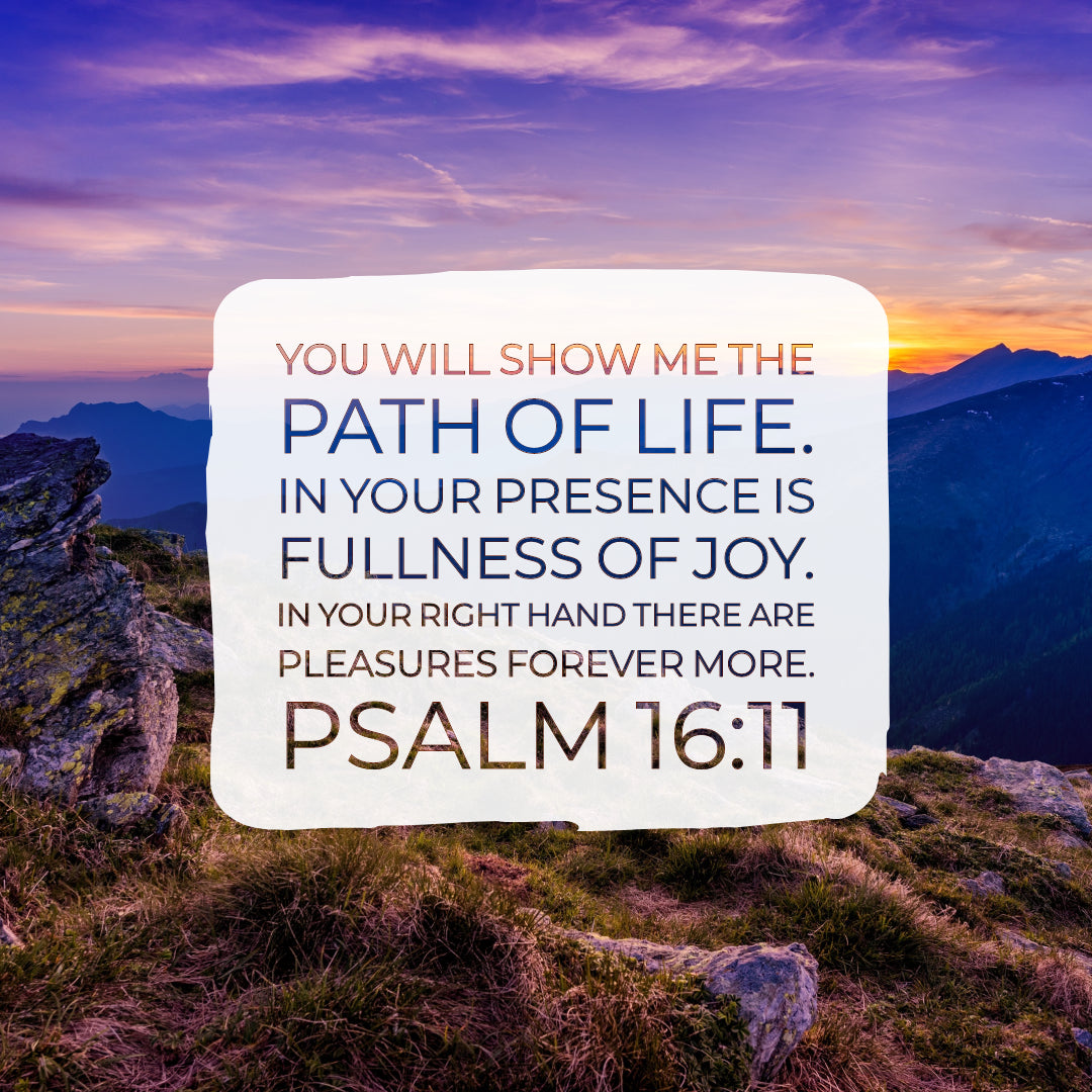 Psalm 16:11 - In Your Presence Is Fullness of Joy - Bible Verses To Go