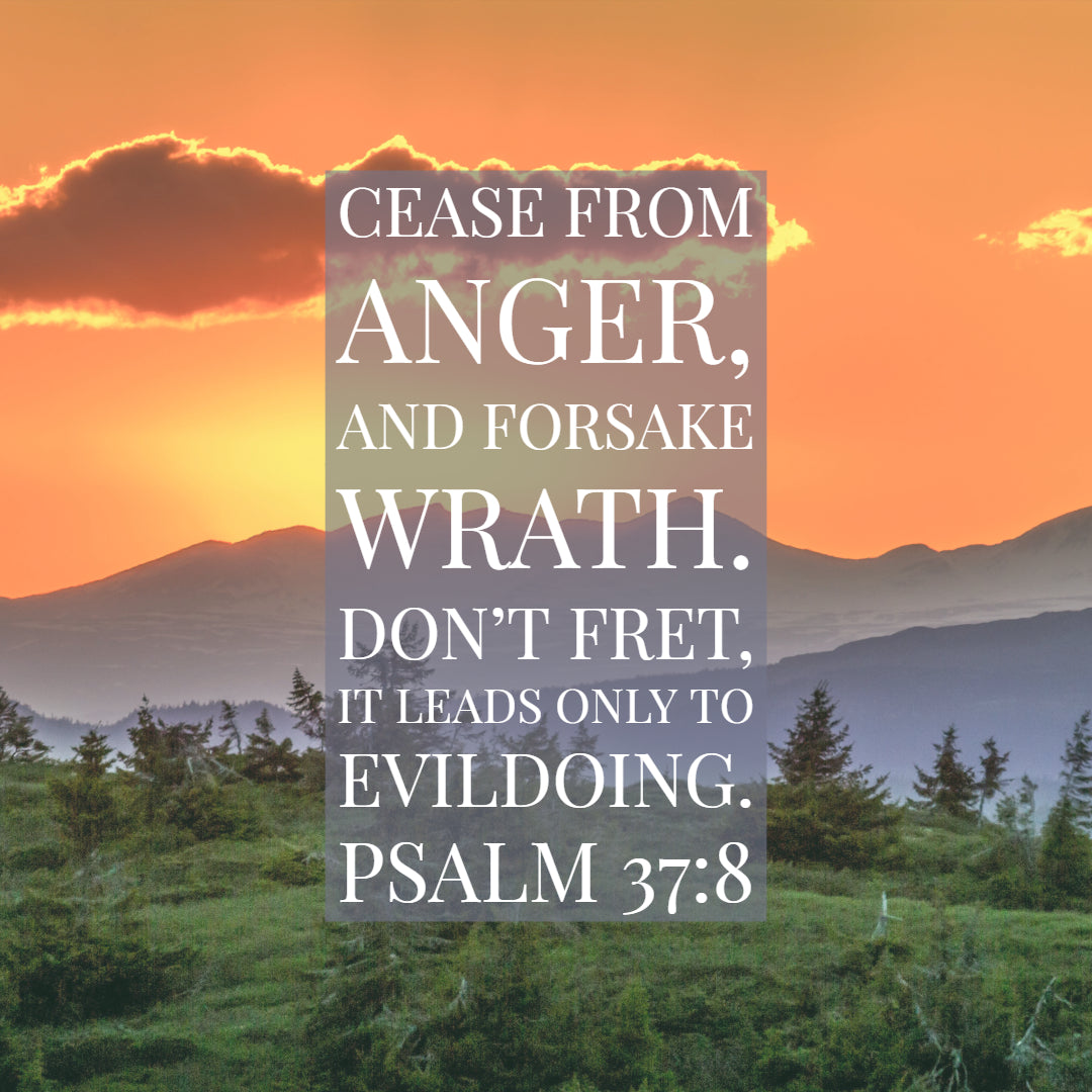 Psalm 37:8 - Cease from Anger and Forsake Wrath - Bible Verses To Go