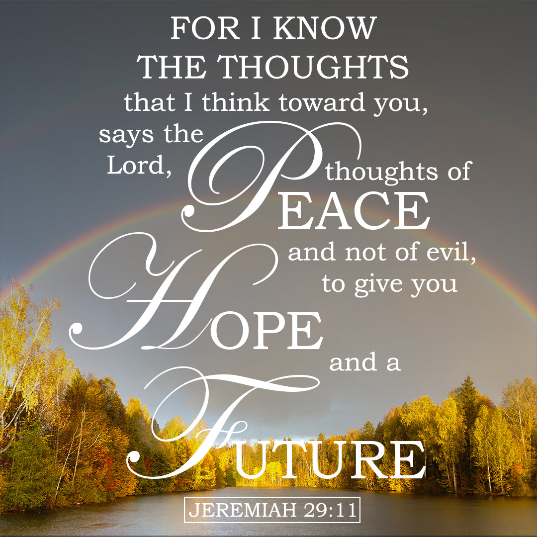 Jeremiah 29:11 - For I Know the Plans I Have For You - Free Bible Art -  Bible Verses To Go