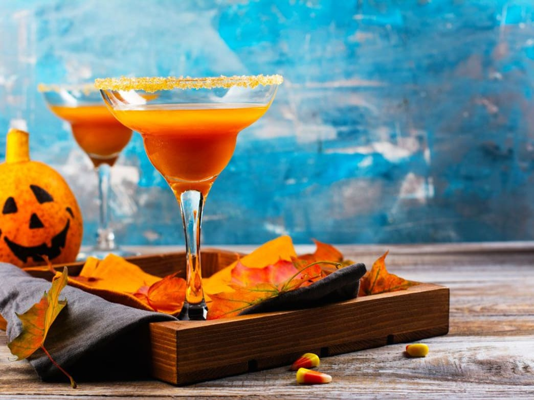 A Perfect Autumn Cocktail - Pumpkin Spice Margarita