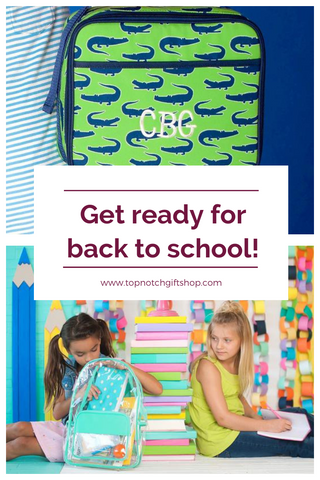 Get Back to School Ready with Personalized Backpacks, Sleeping Mats & Lunch Boxes!