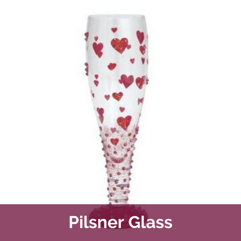 Valentine's Day Pilsner Glass