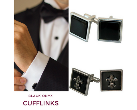 Black Onyx Cufflinks | Top Notch Gift Shop