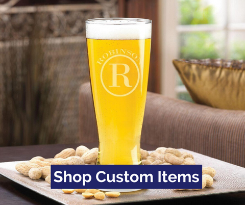 Custom Beer Glass Top Notch Gift Shop