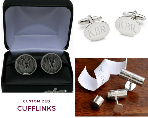 Customized Initial Cufflinks | Top Notch Gift Shop