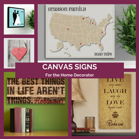 Personalized Canvas Signs Top Notch Gift Shop