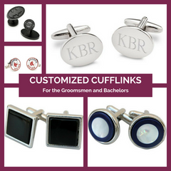 Customized Cufflinks for the Groomsmen Top Notch Gift Shop