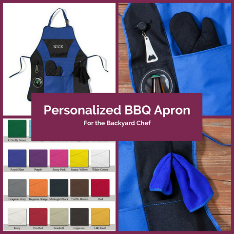 Personalized BBQ Apron Top Notch Gift Shop