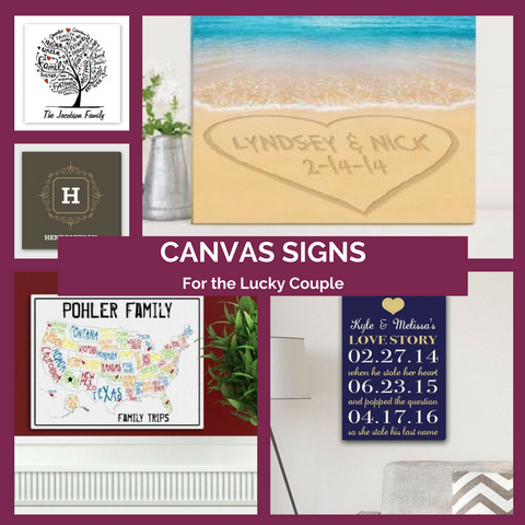 Canvas Signs for a Touch of Decoration Top Notch Gift Shop