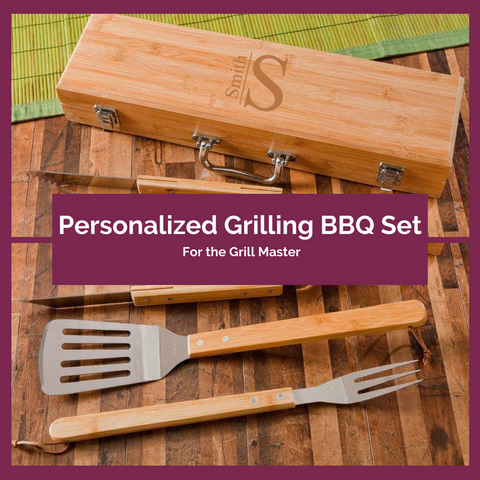 Personalized Grilling BBQ Set Top Notch Gift Shop